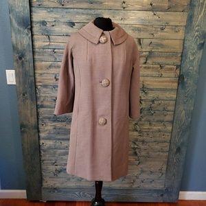 Vintage 60s Michel Daniel Paris Wool swing coat